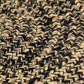 Handmade Rug Jute Black and Natural 90 cm-133725