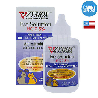 Zymox Enzymatic Ear Solution For Dogs (Bacteria + Fungal + Yeast), 1.25-Ounce