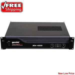 Professional Power Amplifier 4000 Watt IPP*  Output Stereo 8 ohm: 2 x 250W RMS NEW - Gemini XGA-4000