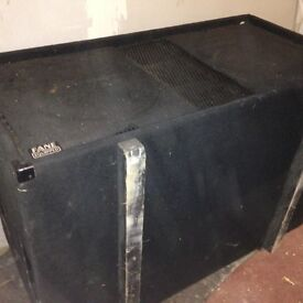 Bass Bins (Pair) with Bose 1800 power amp