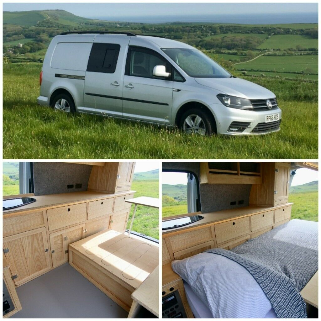 Vw Caddy Highline Camper Van Natural Wooden Interior Euro 6 Bluemotion Engine In Poole Dorset Gumtree