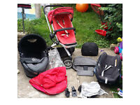 Quinny Buzz Rebel Red Standard Single Stroller +Car Seat+Travel Cot+Bag+Sp Cover