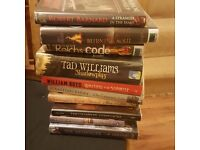 Job Lot of Adult Fiction Books Two Boxes Hard Backs 25 x Books