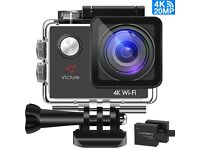 Action Camera 4K WIFI Sports 20MP Ultra HD Go Pro