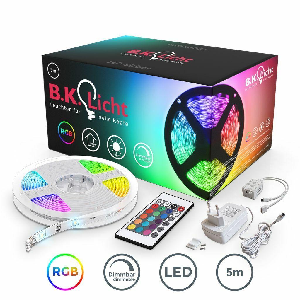 5m LED Band Streifen RGB Stripe Licht-Leiste 5050 SMD Lichtschlauch +Farbwechsel