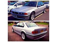 BMW E38 728i SPORT 2001 7SERIES MSPORT FACELIFT SILVER BLACK INTERIOR LEATHER