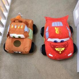 Cars large soft toys