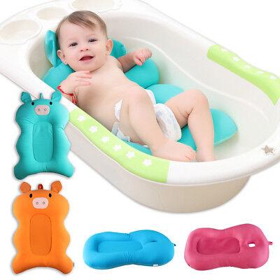 Baby Bath Cushion Floating Soft Baby Bath Pillow & Lounger Newborn Bath Tub Pad