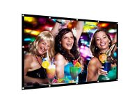 Portable Projection Screen 120 Inch 16:9 Simple Projector Screen Soft Foldable Anti-Crease