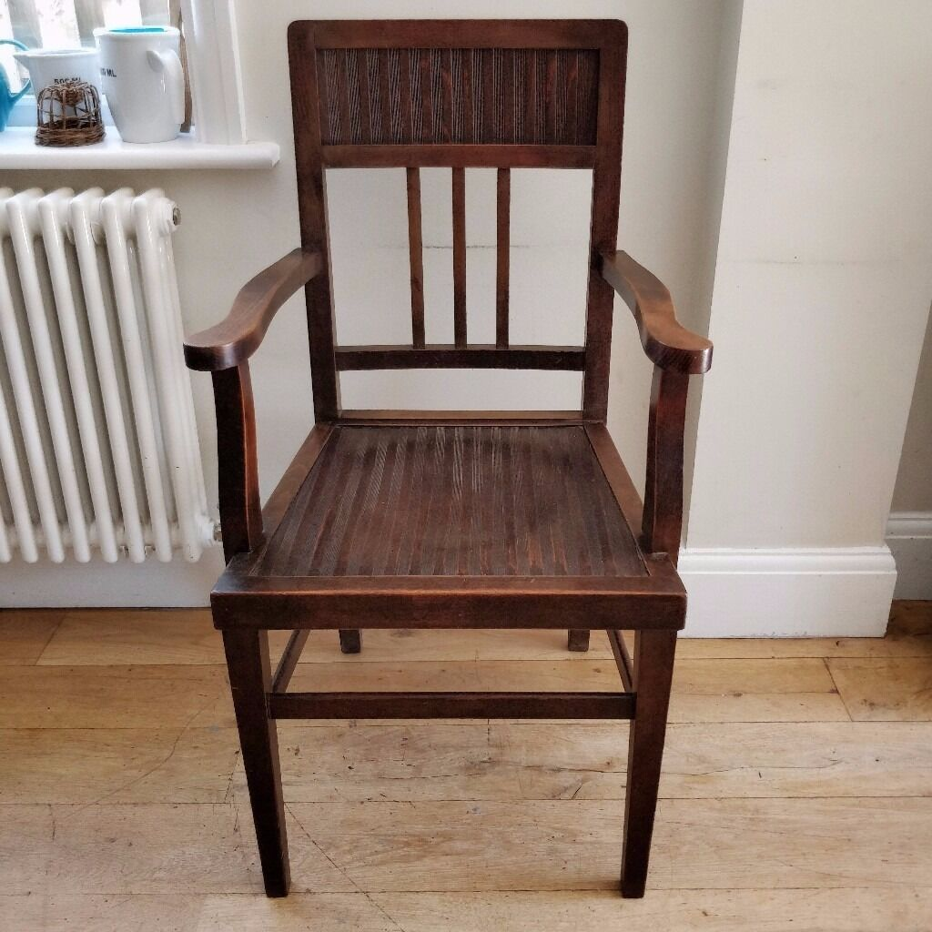 Vintage Furniture. Vintage Oak Armchair . Old Chair. Wooden Chair (