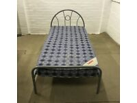 Single bed with clean mattress (free delivery )