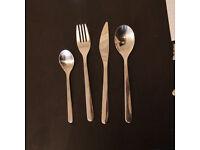 Ikea 24-piece cutlery set FÖRNUFT Stainless steel (6 people)