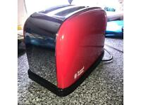 Red Kettle & Toaster Russell Hobbs