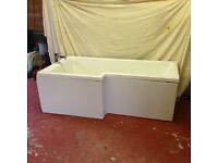 P Shaped Bath & Screen