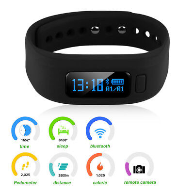 Smart Watch Bracelet Bluetooth Pedometer Step Calorie Counter Fitness Tracker US