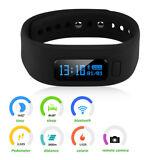 Smart Watch Bracelet Bluetooth Pedometer Step Calorie Counter Fitness Tracker US