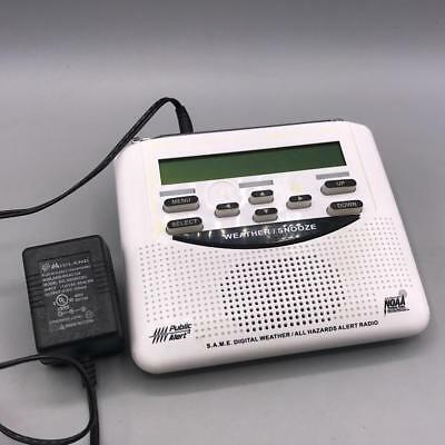 Midland Weather Radio WR-120 Public Alert NOAA Emergency Broadcast + A/C Adapter
