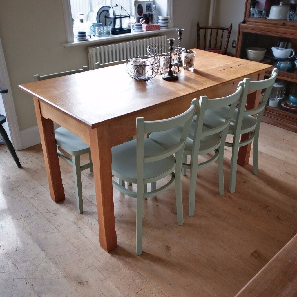 Beautiful Solid Oak Vintage Table Its Originally From A Church With Money Donation Slots