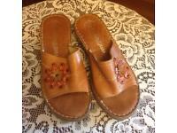 Sally Ohara tan sandals size 6