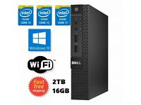 Dell 9020 Micro Intel i7 2TB HDD SSD 16GB RAM Ultra + FREE WIN 10 PRO Wi-Fi