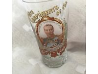 King George V Emperor of India glass