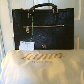 LAMB - Black Hampton Tote bag -BNWT-RRP £250.00 - ONLY £90