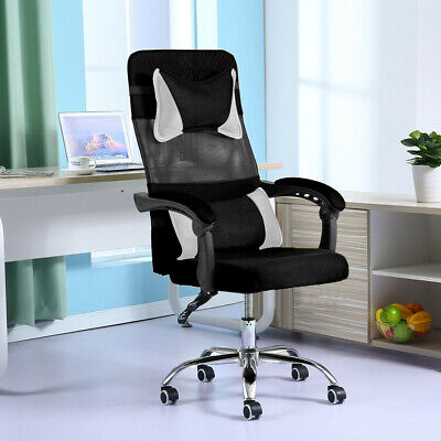 High Back Executive Office Desk Task Computer Boss Luxury Chair Black Nylon Mesh