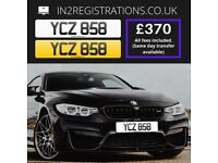 YCZ 858 - Cherished registration / Number plate - IN2REGISTRATIONS-(Car,Van,Lorry,Motorcycle)