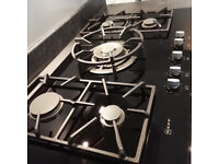 Neff Black ceramic glass Extra wide gas hob