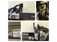 Titan Petrol Engine Chainsaw TTL632CHN USED But Works Spot On. Brand New Blade