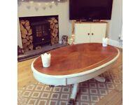 Cream oval coffee table
