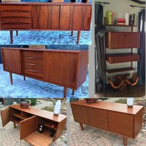 ***January Sale ***DANISH MID CENTURY MODERN TEAK SIDEBOARDS, CREDENZAS, BUFFETS, MODULAR WALL UNITS, TV MEDIA CONSOLES