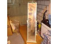cream mirror with stand like new condition. comes from a clean home!