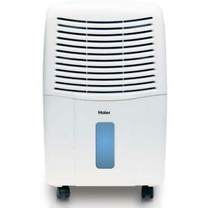 Haier 2 Speed Portable Electronic Air Dehumidifier with Drain, 45 Pint DE45EM