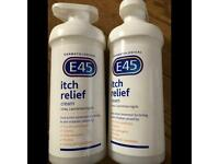 Used, E45 itch relief cream 500g one pack for sale  Coulby Newham, North Yorkshire