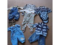 next 0-3 month baby boys clothes