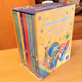 Usborne Little Encyclopedias, box set of 8 fabulous books, full of facts and fun with Internet links