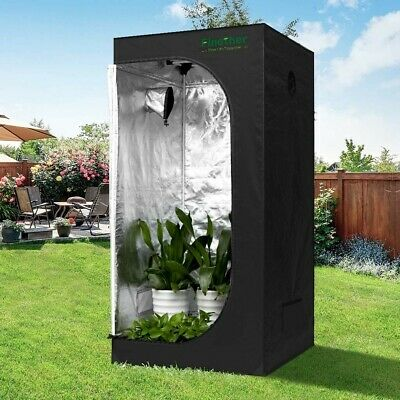Finether 60x60x140CM Hydroponic Grow Tent, Hydro Box, Lightproof and Waterproof