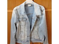 Zara / Girls faded coloured denim jacket, age 11/12