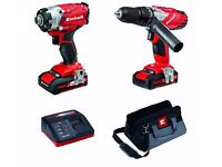 Einhell Power X-Change 18V Cordless Li-Ion Combi Drill & Impact Driver Twin Pack AS-NEW + WARRANTY!