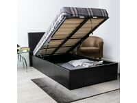 🌈🌈CASH ON DELIVERY🌈🌈DOUBLE LEATHER STORAGE BED FRAME WITH SEMI ORTHOPEDIC MATTRESS