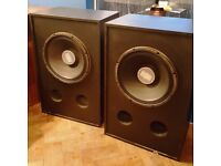 """Eminence Kilomax Pro 18A Huge 18"""" 1250W Twin Subwoofers Monsters Audio Speakers"""
