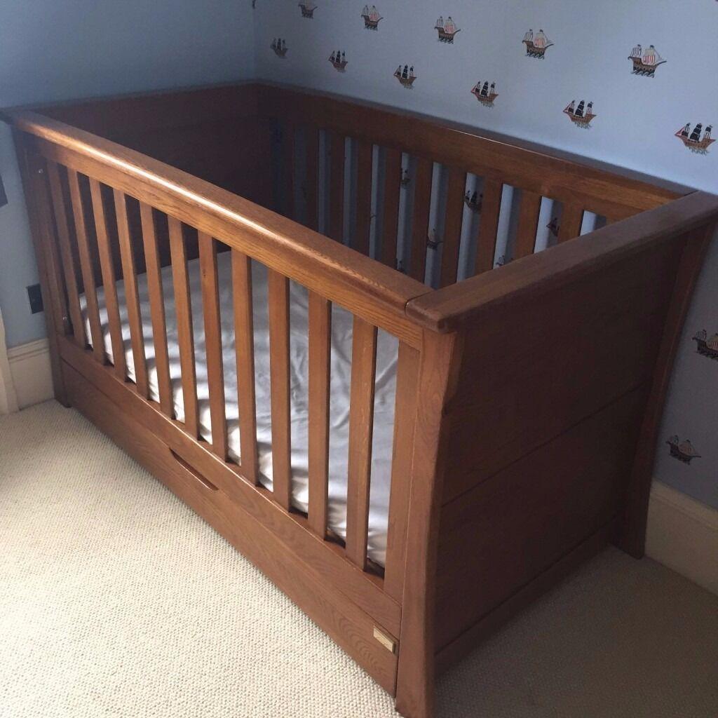 Mamas And Papas Bedroom Furniture Cot Bed Wardrobe Drawers Bookcase Mamas Papas Dark Oak