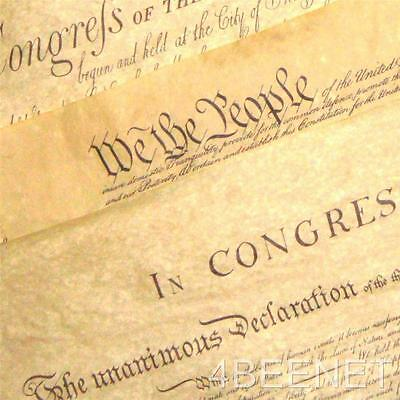 3 BIG POSTERS:  DECLARATION OF INDEPENDENCE + U.S. CONSTITUTION + BILL OF RIGHTS