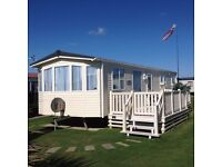 Static 8 berth caravan ABI Highlander 2008, situated in West Sussex.