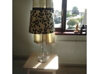 Glass table lamp. Excellent condition.