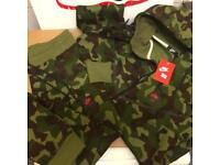 Men's army green Nike tracksuit