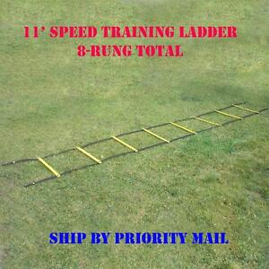 8-rung Agility Ladder for Speed, Soccer, Football, Fitness, Feet Training