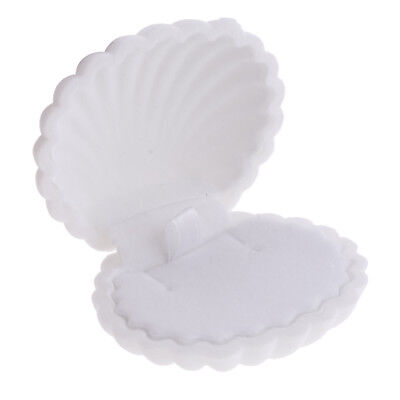 Shell Shape Ring Earring Necklace Gift Box For Wedding Jewelry Store White