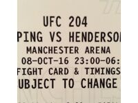 2x SOLD OUT UFC 204 TICKETS BISPING VS HENDERSON WITH FREE WEIGH IN TICKETS